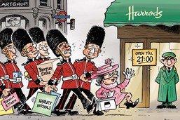 Conseil d'Etat fribourgeois: shopping royal à Londres