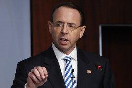Rosenstein annonce son départ du ministère de la justice américain