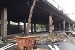 Barricades en feu et intervention de la police à Berne