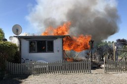Incendie au camping de Sugiez