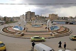 Raqqa, reconstruction en trompe-l'œil