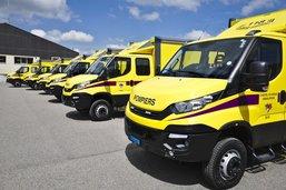 Inauguration de sept nouveaux véhicules Hydrocaroul à Guin
