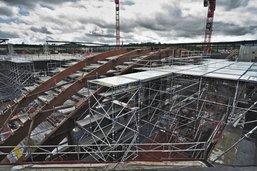 Construction de la nouvelle patinoire de Fribourg