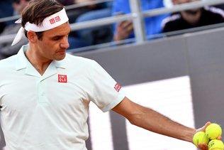 Federer à l'entraînement sur le central