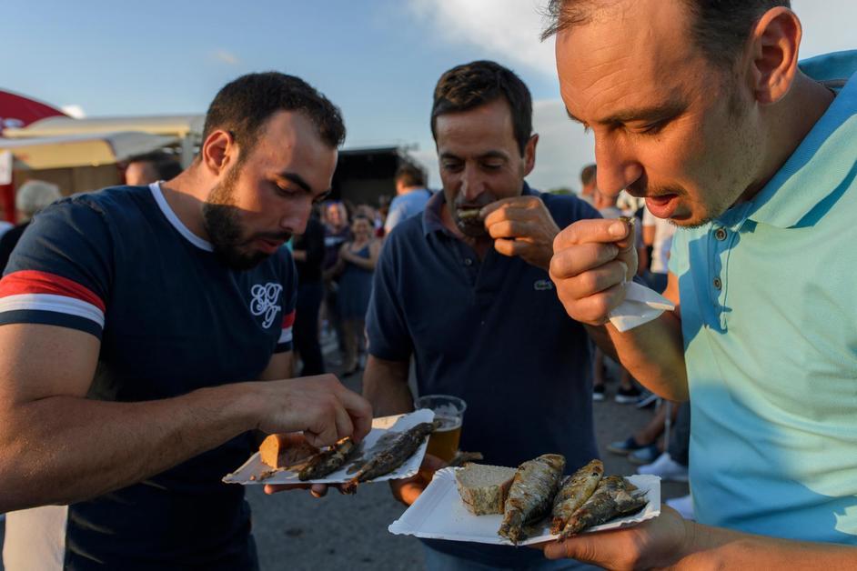 Une tonne de sardines avalée au centre portugais de Payerne