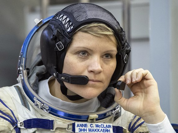 Anne McClain a passé six mois dans la station spatiale internationale (archives). © KEYSTONE/AP/PAVEL GOLOVKIN