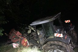 Un tracteur finit dans le ruisseau à Dirlaret