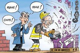 Olivier Curty (Economie) en formation continue auprès de Georges Godel (Finances)