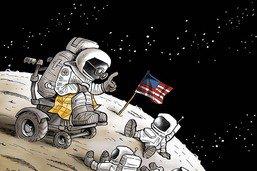 Conquête de la Lune: l'heure des souvenirs