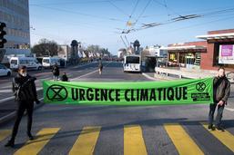 Manifestation non-autorisée stoppée à Pérolles