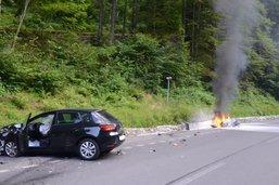 Un motard gravement blessé lors d'une collision à Engelberg (OW)