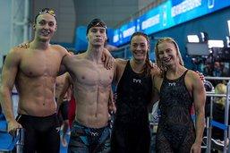 Un record pulvérisé pour le 4 x 100 m libre mixte suisse