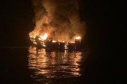 Un bateau de tourisme s'embrase en Californie: au moins 4 morts