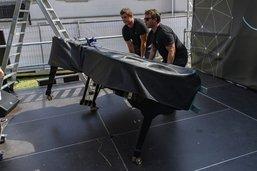 Un piano Steinway au festival Swing in the Wind