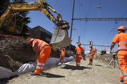 Interruption totale du trafic ferroviaire à Givisiez