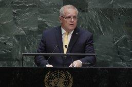 Climat: le Premier ministre australien balaie les critiques à l'ONU