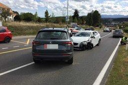 Un accident à Belfaux fait deux blessés