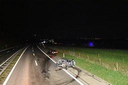 Deux blessés dans un accident sur l'A12 à Ecuvillens