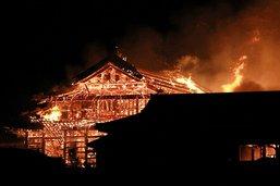 Château japonais classé au patrimoine mondial ravagé par un feu