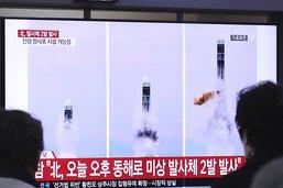 Nouveau test nord-coréen d'un lanceur de missiles multiples (KCNA)