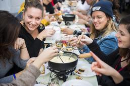 Mondial de la fondue à Tartegnin