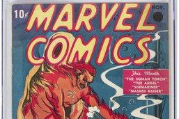 Prix record pour la toute première bande dessinée Marvel