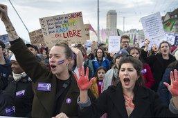 Manifestation à Lausanne contre les violences sexistes
