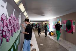 Espace dédié à l'art urbain au Schoenberg