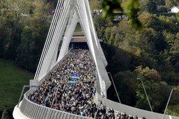 Le pont de la Poya, image de Fribourg