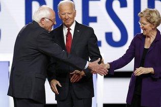 Primaire démocrate: les candidats défendent Biden contre Trump
