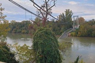 Un pont s'effondre au nord de Toulouse: un mort
