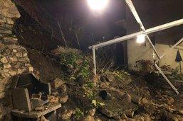 Un mur s'effondre à Estavayer-le-Lac