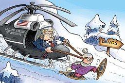 Trump et Greta en visite écoresponsable à Davos