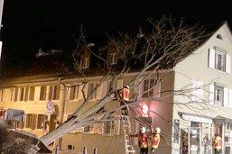 La tempête a causé pour un million de francs de dégâts dans le canton