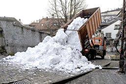 Ils font tomber la neige en Basse-Ville