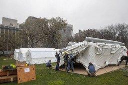 A New York, un hôpital de campagne dans Central Park