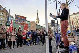 Une manifestation pour soutenir les activistes du climat