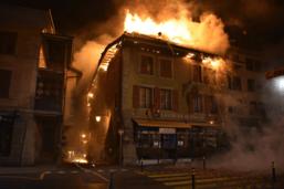 Payerne: l'Hôtel de la Croix-Blanche part en fumée