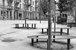 Fribourg, ville déserte, immortalisée