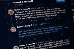 Comportement inapproprié: Twitter masque un nouveau tweet de Trump