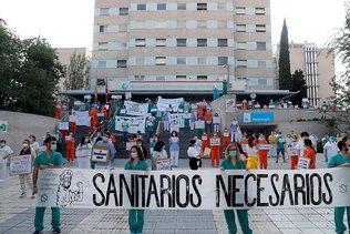 Les soignants manifestent à Madrid pour exiger plus de moyens