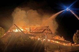 Incendie d'une ferme à Romont