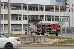 Une machine de l'entreprise Meggitt prend feu