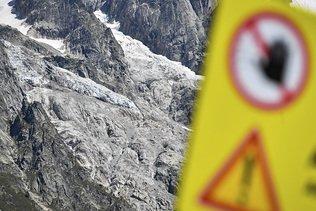 Mont Blanc: fin de l'alerte au glacier italien de Planpincieux