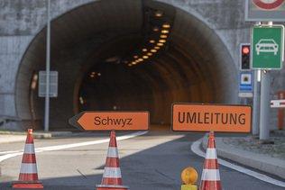 UR: Route de l'Axen à nouveau fermée après un éboulement