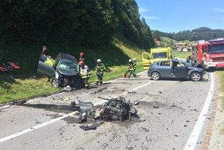 Trois blessés lors d'un accident de la circulation à Enney
