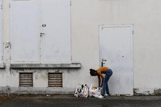 Distribution de nourriture en ville de Fribourg
