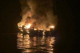 Incendie d'un bateau en Californie: le capitaine inculpé