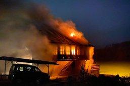 Incendie d'une maison à Flamatt