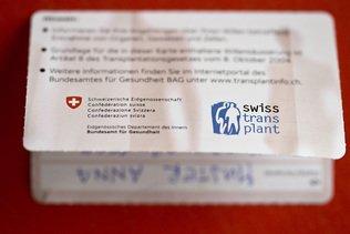 Dons d'organes: le Conseil fédéral veut inclure les proches dans la décision